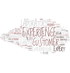 Experience word cloud concept vector