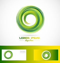 Green circle swirl logo vector
