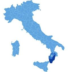 Map of italy reggio calabria vector