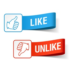 Like and unlike symbols vector image