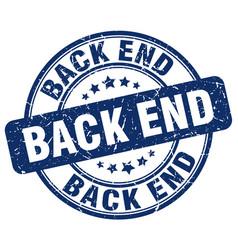 Back end blue grunge stamp vector