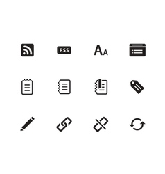 Blogger icons on white background vector