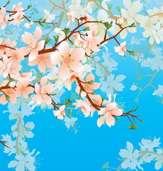 Blossoming tree branch vector