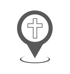 church map pointer icon simple vector image