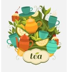 Design tea packaging vector image