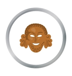 Greek antique mask icon in cartoon style isolated vector image vector image