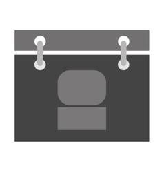 grey hanging calendar vector image