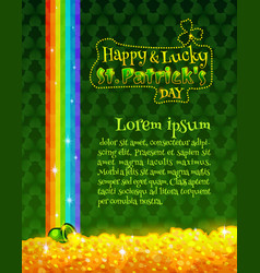 happy and lucky st patricks day greeting card vector image vector image