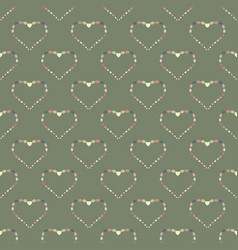 Heart abstract background seamless pattern vector