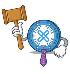 Judge gxshares coin mascot cartoon vector