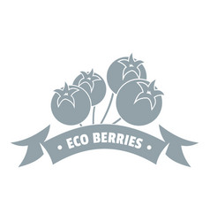 juice berries logo simple gray style vector image vector image