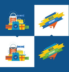 methods of payment shopping marketing discount vector image