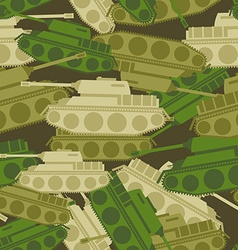 Military background from tanks Army seamless vector image