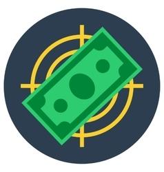 Paper money banknote flat target vector
