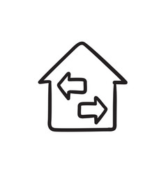 Property resale sketch icon vector
