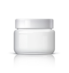 realistic cosmetic jar on a white background vector image
