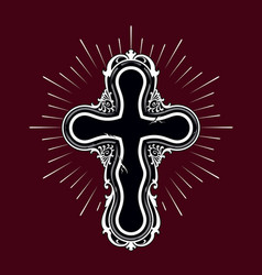 religion cross vector image