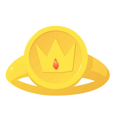Ring icon cartoon style vector