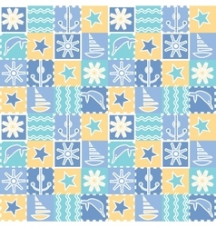 Seamless background for kids Baby fabric vector image