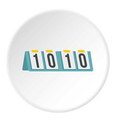 Tennis scoreboard icon circle vector
