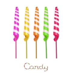 Unicorn twist candies vector image