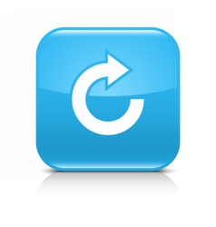 Blue arrow repeat reload refresh rotation icon vector