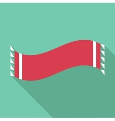 Winter scarf icon flat style vector