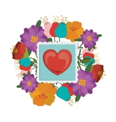 Heart post stamp vector