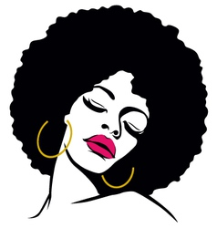 afro woman vector image