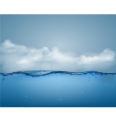 Underwater part and clouds vector image