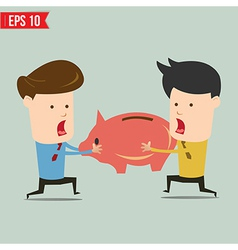 Man snatch Piggy bank - - EPS10 vector image