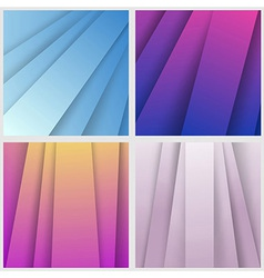 Modern colorful layered backgrounds collection vector