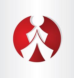 men walking icon design vector image