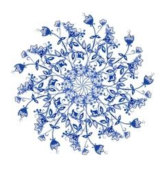 Blue flowers ornament vector image