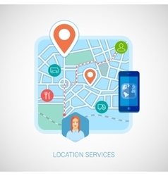 Local city map mobile navigation flat icon vector