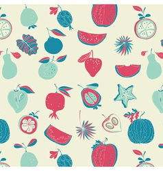 Vintage fruit wallpaper vector