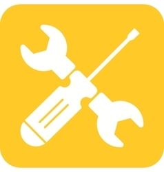 Wrench and screw driver vector