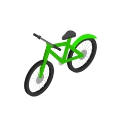 Green bicycle icon isometric 3d style vector
