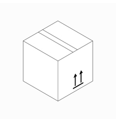 This side up packaging icon isometric 3d style vector