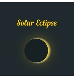 Solar eclipse with yellow glow vector