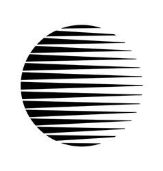 Round circle triangle lines halftone style black vector image