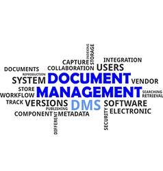 Word cloud document management vector