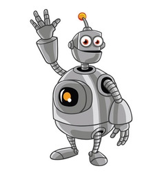 Cute robot cartoon vector