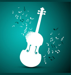 abstract music background violin and notes vector image vector image