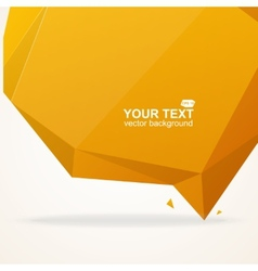 Abstract origami polygonal shape vector image vector image