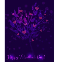 abstract valentine tree vector image vector image