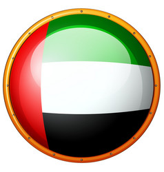 Badge design for flag of arab emirates vector