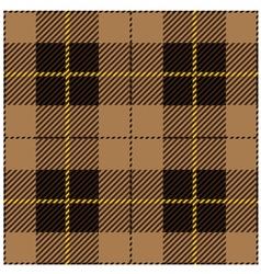 Beige seamless tartan plaid design vector