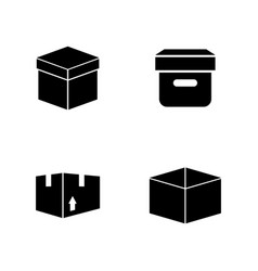 Box simple related icons vector