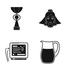 Cup bride and other web icon in black style vector